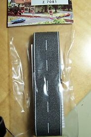 z scale busch asphalt country road with