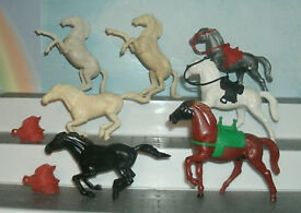 original vtg s stuart 60mm horses x7 with