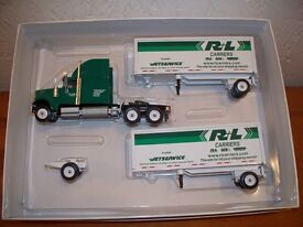 r l carriers doubles tractor trailer diecast
