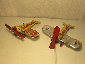 marx sky bird tin wind up airplane s 2 for