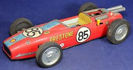 japan prestone indy race car tin toy battery