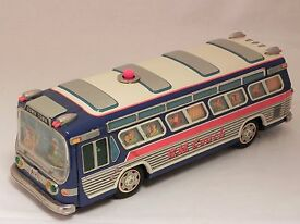 g m coach bus 16 gmc japan tin toy 60s