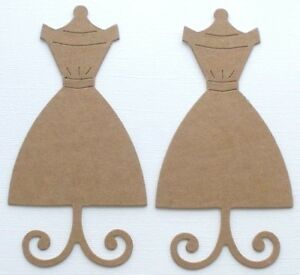 {4} *DRESS FORM* Bare Forms Unfinished Chipboard Die Cuts - 5