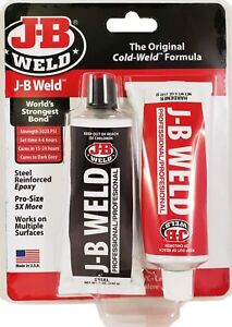 NEW J B WELD 8281 INDUSTRIAL PROFESSIONAL LARGE 10OZ COLD WELD ADHESIVE USA $9.29