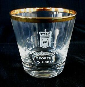 Vintage Bar Glass *** Windsor CANADIAN CLUB *** On the Rocks Glass * Advertising