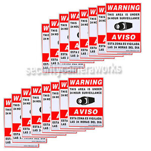16 CCTV Security Camera Video Warning Sticker Sign Decal Home Surveillance bsy