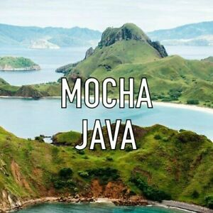 Organic Mocha Java Whole Coffee Beans Fresh Roasted Daily 2 / 1 Pound Bags