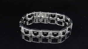 SIMMONS & SHR Black Bead Tiger Eye Stainless Steel Men's Bracelet - Great Gift