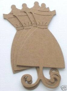 {12}  DRESS FORM - Mannequin Forms Vintage Bare Chipboard Die Cuts - 2 12