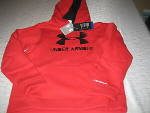 BOYS YOUTHS UNDER ARMOUR COLDGEAR STORM HOODIE HOODY RED SIZE YLG LARGE NWT