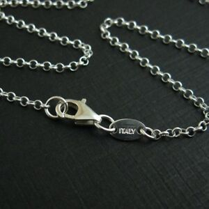 Solid Sterling Silver 2mm Rolo Necklace Chain with ITALY TAG All Sizes $16.82