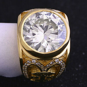 8.08 ct Round Diamond GIA N VS2 Ring Mens Custom Unique Mens Ring!  Big Large.