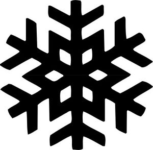 Snowflake Symbol Vinyl Decal Sticker Car Window Wall Printed