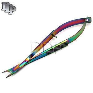 NEW Snip Eze Easy Sqeez Scissors 4 3 4#x27;#x27; Curved Sewing Embroidery Multi Color $7.90