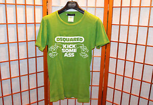 DSQUARED2 KICK SOME ASS RIBBED MUSCLE RUNWAY VINTAGE T-SHIRT jeans s M L Large