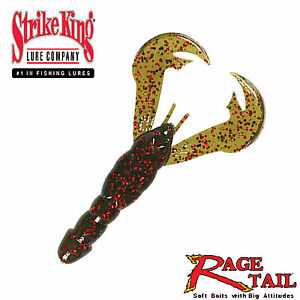 Strike King Rage Tail Craw Soft Plastic Bait Select Color s