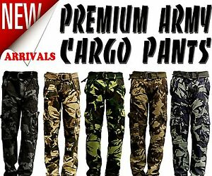 New Mens Premium Casual Military Army Camouflage Camo Cargo Combat Work Pants $29.99