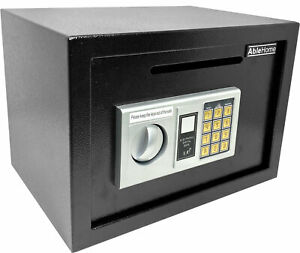 ELECTRONIC DIGITAL DEPOSITORY SAFE W CASH SLOT DROP OFF RETAIL SECURITY VAULT $65.99