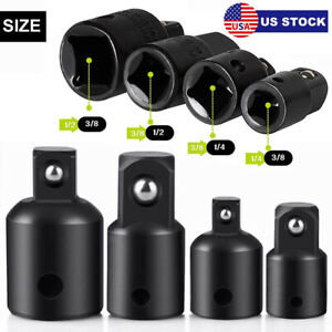 4pcs 3 8 to 1 4 1 2 inch Drive Ratchet Socket Adapter Reducer Air Impact Set