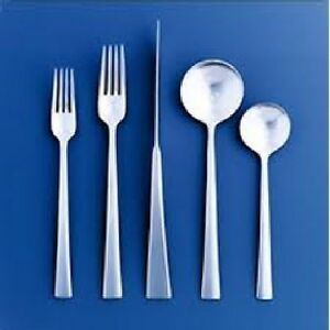 DANSK RONDURE 20 piece Service for of 4 Stainless Flatware Set Place Settings $2219.99