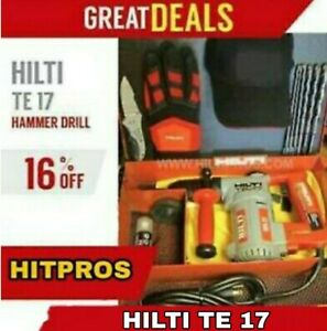 HILTI TE 17, GREAT CONDITION, FREE BITS, HILTI GLOVES, EXTRAS, FAST SHIP