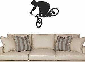Bike Wall Decal removable sticker freestyle bmx decor boys room kids mural bmx