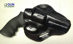 "Custom leather holsters for 4"" S&W Smith & Wesson L-Frame revolver"