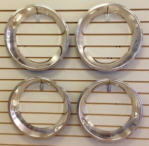15 2.5 Deep Stainless Steel Beauty Trim Ring Set of 4 Fits 15x7 Rally Wheels $89.95