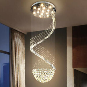 Modern Chandelier LED Crystal Light Ceiling Villa Stairs Lighting Fixtures #6709