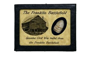 Shot Bullet Relic from The Battle of Franklin TN with Display Case and COA