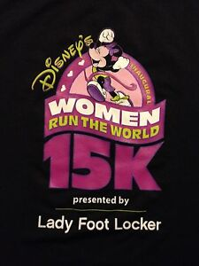 2006 DISNEY Shirt WOMEN RUN THE WORLD 15K Top Stretch INAUGURAL MINNIE MOUSE Run