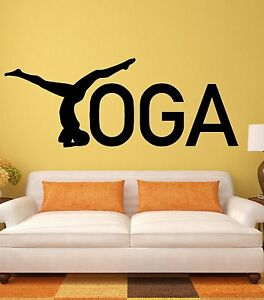 Yoga Wall Stickers Zen Healthy Lifestyle Woman Girl Meditation Vinyl Decal i2442