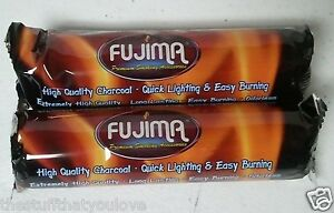 Fujima 20pc (2 rolls) Charcoal Disc for Hookah Funnel or Resin Incense 33mm