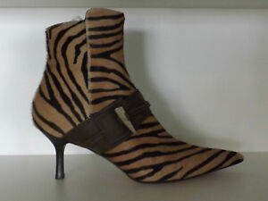 NIB! BALLIN~ANIMAL PRINT~ANKLE BOOTS~MADE IN ITALY~IT SIZE 38~US SIZE 8