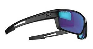 Under Armour Captain Sunglasses - Black  Grey Blue Polar Storm - 8630064-010168