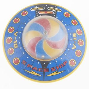 spaceship friction toy v 15 tin plastic japan rare