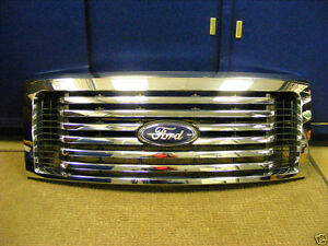 2009 2010 2011 2012 2013 2014 FORD OEM F150 CHROME BILLET GRILLE W/EMBLEM!!!!!!!