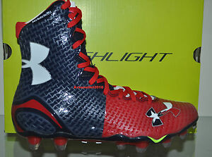 Under Armour Mens Highlight MC Football Cleats TEXAS Limited Edition RedBlue