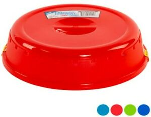 Set of 2 Plastic Microwave Plate Covers With Steam Vents in Lid Food Splatter