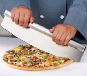 Dalamia 14 Inch High Quality Stainless Steel Rocker Pizza Cutter