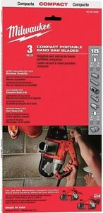 Milwaukee 48-39-0529 35-3/8 in. 18 tpi. Compact Band Saw Blade 3 pk - IN STOCK