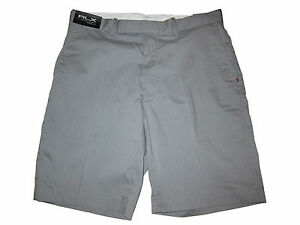 RLX Polo Ralph Lauren Gray White Pinstripe Golf Shorts Pants 34