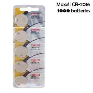 Maxell CR2016 3 Volt Lithium (1000 Batteries) - Tracking Included!