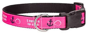 Country Brook Design® Deluxe Pink Refuse to Sink Ribbon Collar