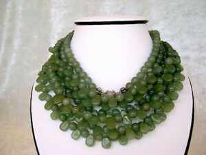 Semi-precious stone Necklace adjustable clasp handmade one of a kind