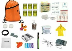 3 Day Emergency Zombie Survival Kit Food Water Gear Bag Go Sack Prepper 72 Hour