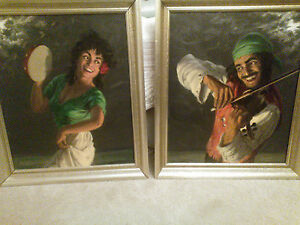 FRITZ MULLER ANTIQUE - WELL LISTED - 20X24 GYPSY MUSICIANS VERY LIVELY!