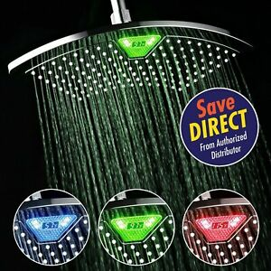 DreamSpa® 12 inch Rainfall Shower Head with LED LCD Temperature Display