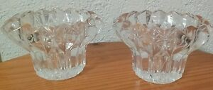 24% Lead-Crystal Candle Stick or larger holders– Made in France NIB