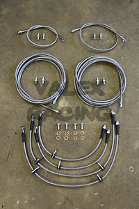 Complete Front & Rear Brake Line Replacement Kit 94-01 Acura Integra DC2 non abs